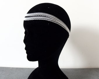 White lace headband