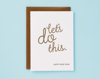 Let's Do This / Letterpress Card