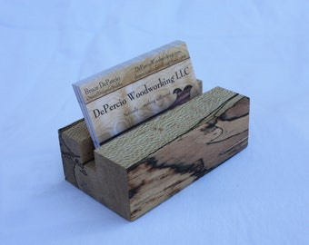 Business card display holder