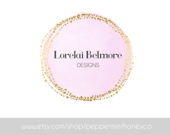 LORELAI BELMORE LOGO Premade Logo Design Photographer Small business Boutique Blog Glitz