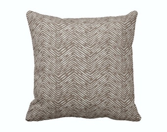SALE | 50% OFF: 18x18 Pillow Cover Brown Pillow Cover Herringbone Pillows Brown Throw Pillow Cover Chevron Pillows Decorative Pillows
