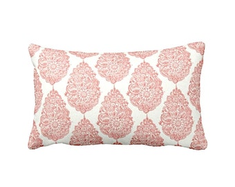 Coral Pillow Cover Coral Throw Pillow Cover Coral Pink Pillows Coral Lumbar Pillow Oblong Pillows Coral Cushion Covers Decorative Pillows