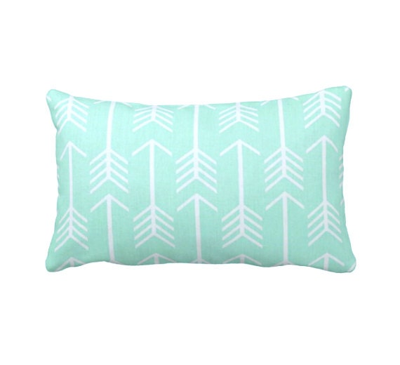 Dimensions Of Throw Pillow : 7 Sizes Available: Mint Throw Pillow Cover Decorative Pillows