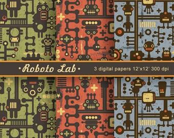 "Digital paper pack ""Roboto Lab"""