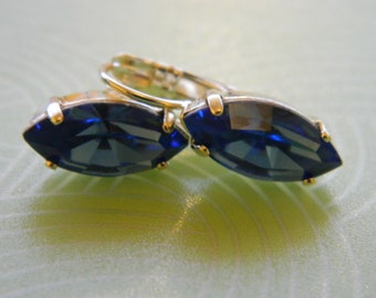 Swarovski earrings - sapphire
