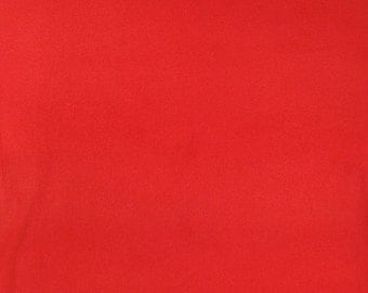 Red Antipill Fleece Fabric Sold by the Yard