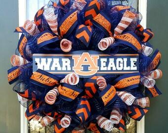 Auburn Wreath,War Eagle Wreath,Alabama Wreath,Auburn Tigers,AU Pride,Auburn University Football,Deco Mesh Wreath,Tailgate Party,Fall Wreath