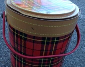 SALE Skotch Cooler 4 gal plaid cooler by Petra Cabot for Hamilton