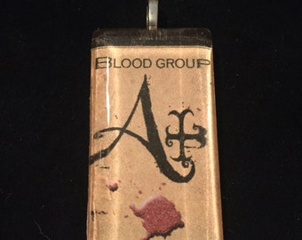 Creepy A+ Blood Type Pendant