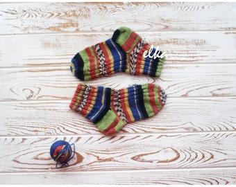 Knitted socks, baby - 2 / Вязаные носочки, детские - 2