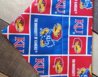 University of Kansas Jayhawk dog collar, kansas dog bandana, jayhawks dog bandana, University of Kansas bandana, bandana, dog gifts