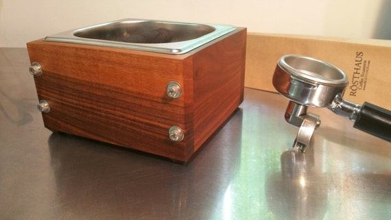 RostHaus Knock Box IPE and stainless Handmade for Espresso