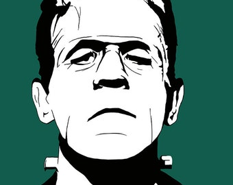 HALLOWEEN SALE!! Frankenstein's monster stylish pop art print / poster