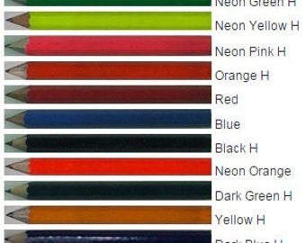 ezpencils - Personalized Golf Pencils Tipped - 24 pkg - ** FREE PERZONALIZATION ** - No Eraser