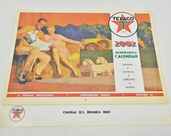Texaco Gasoline Gas Station Memorabilia Calendar 2002 Edition XL
