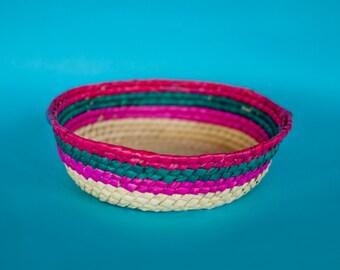 Mexican woven basket handmade