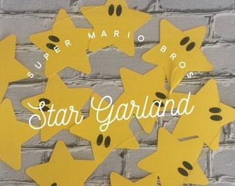 Star garland Super Mario Brothers, Mario and Luigi Mario and Luigi birthdaypaper garland