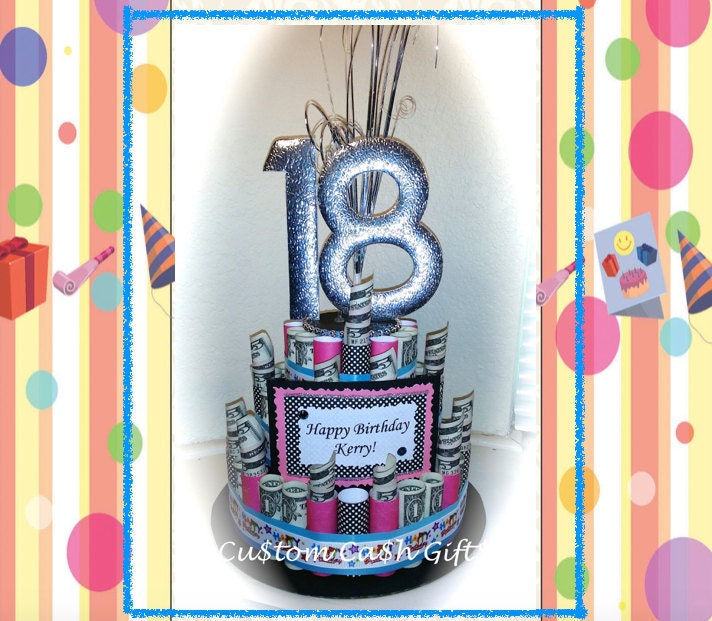 18th Birthday Money Cake Image Inspiration of Cake and Birthday
