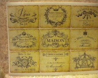 Vintage French / Paris Labels (Stickers)  9 images