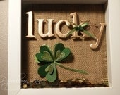 Custom St. Patrick's Day shadow box for jcalda