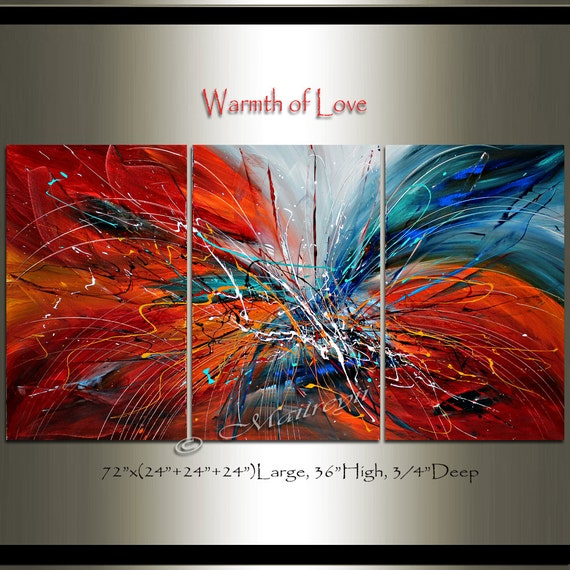 Large Abstract Painting Wall Art Extra Large By Largeartwork