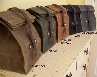 Lunch Bag / Waxed Canvas / Made to Order