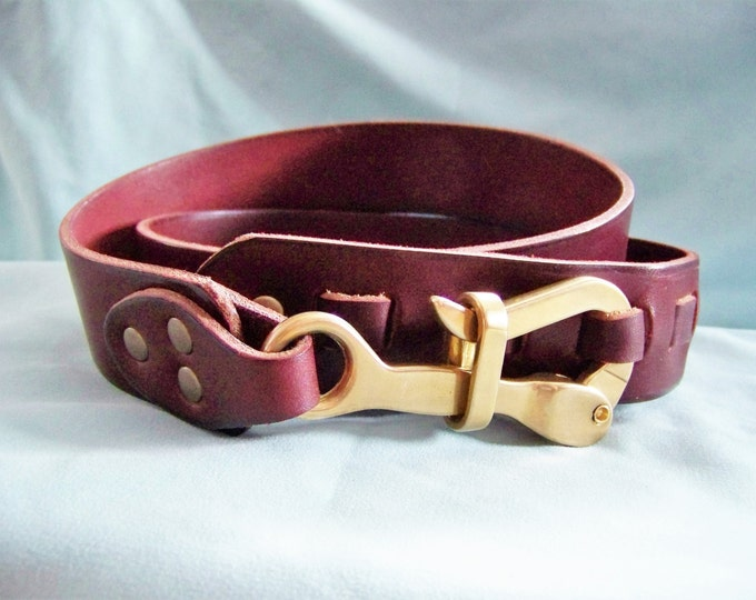Pelican Hook Belt / Leather / Nautical Theme / Made to Order