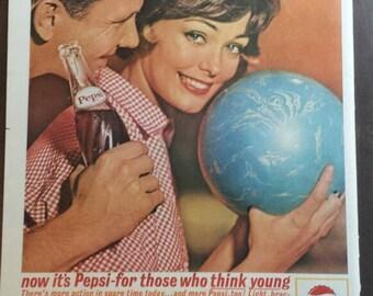 Vintage Pepsi-Cola ad - 1963