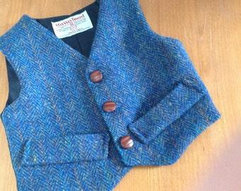 Child's  Harris Tweed Bespoke Waistcoat/Vest