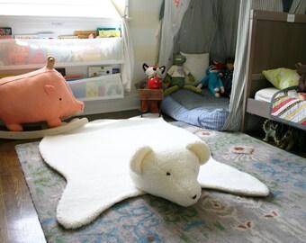 Cheeky Teddy Bearskin Woodland Nursery Lodge Accent Rug