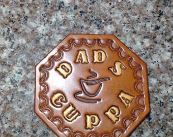 Uniquely Designed Leather coffee Coaster.