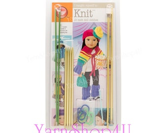 Learn to Knit Doll Clothes, I Taught Myself To Knit 18in Doll Clothes by Boye, Instruction books & Knitting tools included Learn to Knit kit