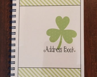 Shamrocks Address Book - Spiral Bound