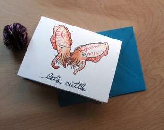 Blank Romantic Occasion Card-- Let's Cuttle