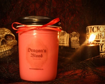 Dragon's Blood scented candle