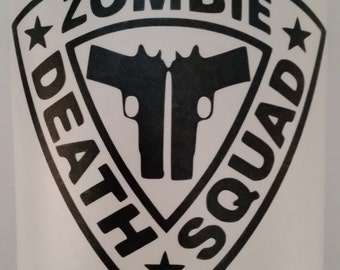Zombie Death Squad Decal- Free Shipping