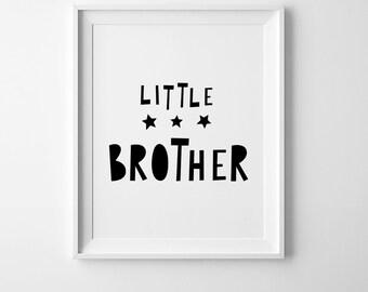 Little brother nursery printable wall art decor, digital print, Scandinavian print, affiche scandinave, kids wall art, nursery art printable