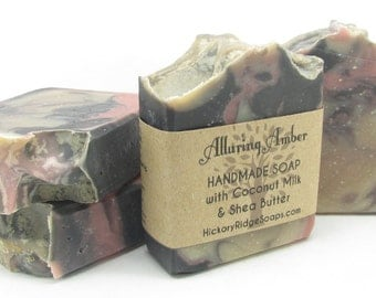 Coconut Milk Soap, Alluring Amber Homemade Soap, Handmade Soap, Cold Process Soap, Natural Soap