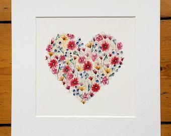 Flower Heart Illustration