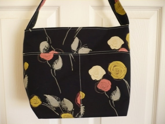 Gorgeous Rose Bucket-Style Purse Diaper Bag