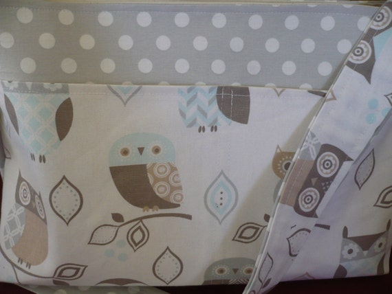 Owls in Pastel Purse Diaper Bag
