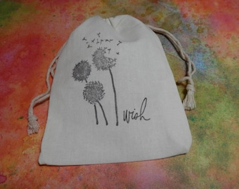 EVERYDAY GIFT BAGS, Thank you Bags, Birthday Gift Bags, Party Favor Gift Bags, Wish Bags, Dandelion Wish Bags, Favor Bags,