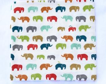 Elephant Swaddle Blanket, Organic Muslin Swaddle, Gender Neutral Organic Baby Blanket, Elephant Nursery Decor, Organic Receiving Blanket
