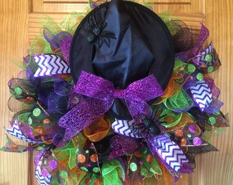 Halloween Witch's Hat Wreath