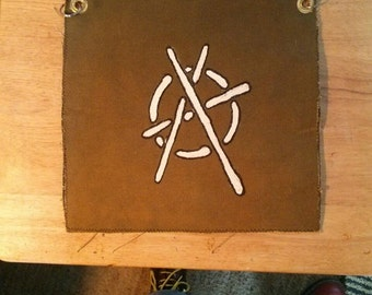 Hand made, hand painted Anarchy butt Flap