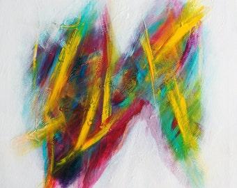 "Eyes on Fire 20"" X 20"" Acrylic on Canvas"
