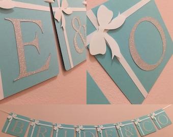 Bride & Co, bridal shower banner, breakfast at t banner