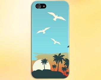 Cartoon Island Sunrise x Beach Phone Case, iPhone 7, iPhone 7 Plus, Tough iPhone Case, Galaxy s8, Samsung Galaxy Case Note 5 CASE ESCAPE