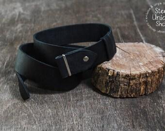 Black Leather Belt Strap