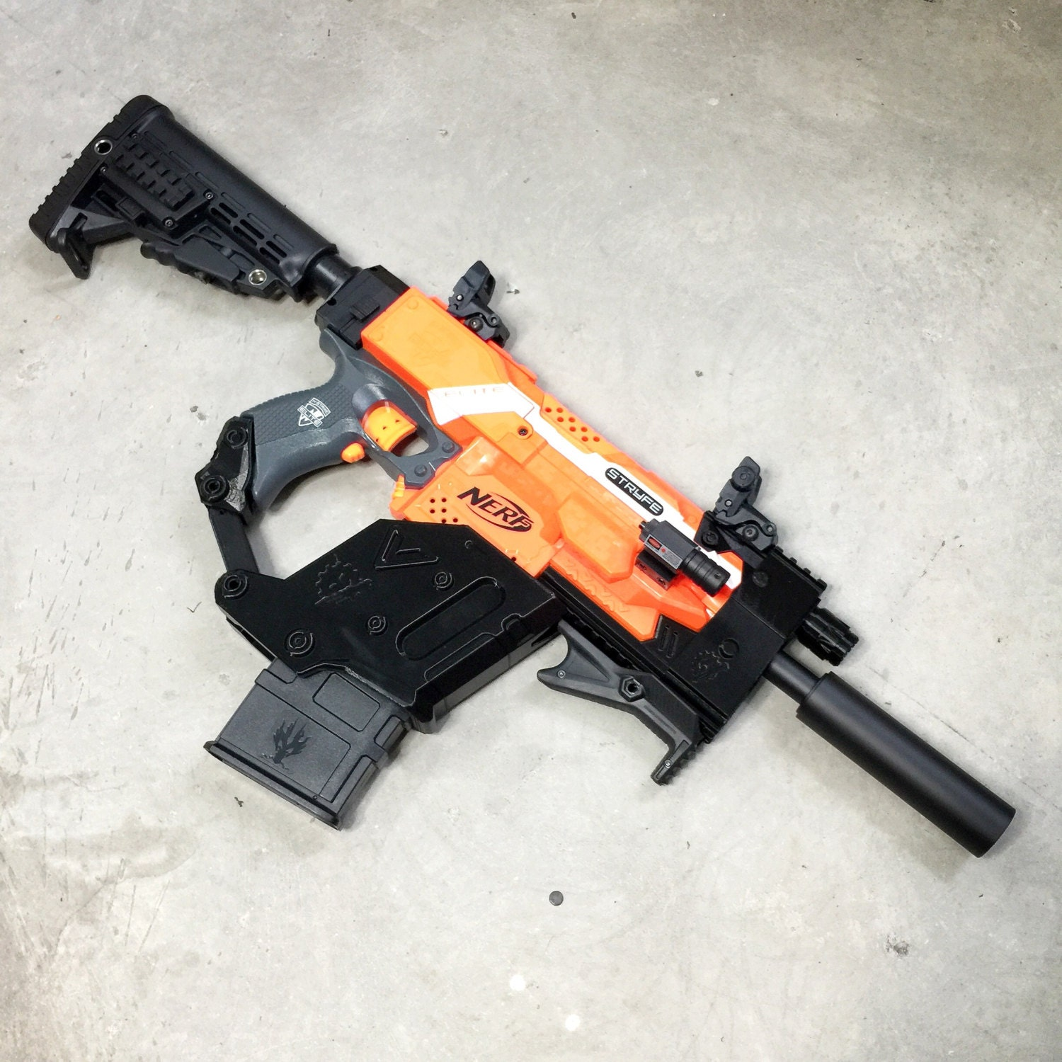nerf stryfe kriss vector conversion kit by jlcustomscreations